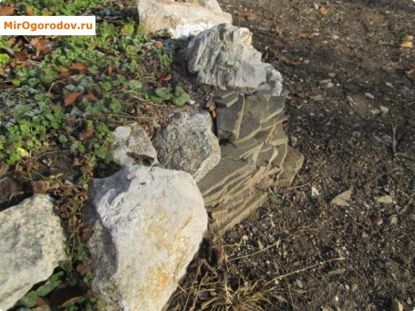 Сочетание искусственных и натуральных камней