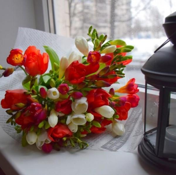 Букеты конфет праздничные букетов из тюльпанов своими руками