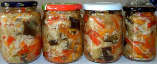 Заготовка из овощей