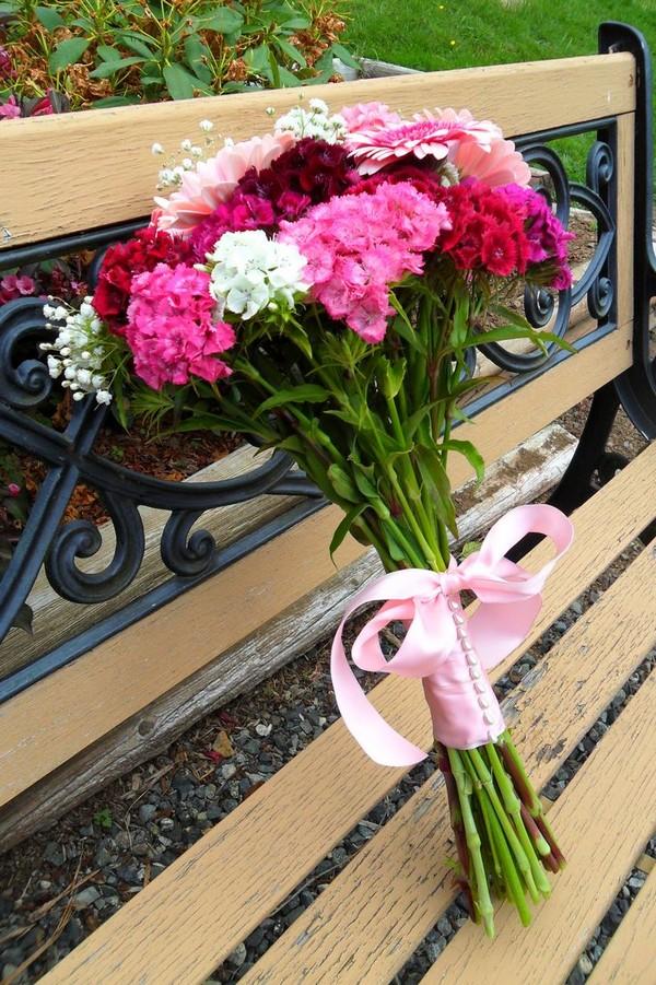 Букетик в розовых тонах